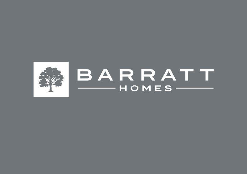 Barratt Homes Logo Grey White Writing