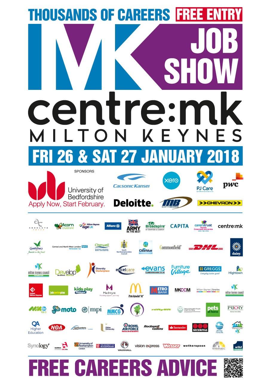 MK Job Show Sponsors & Exhibitors Poster