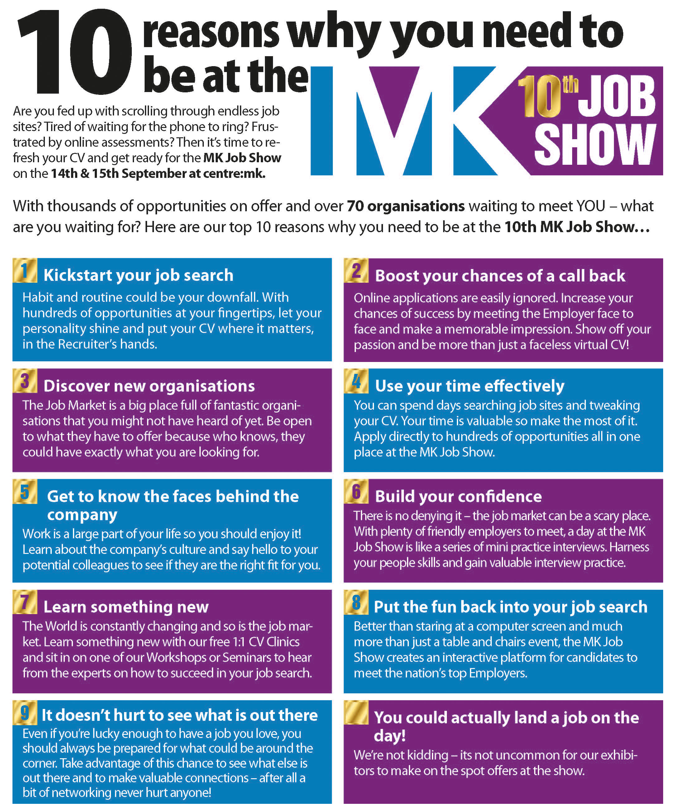 Why Attend - MK Job Show