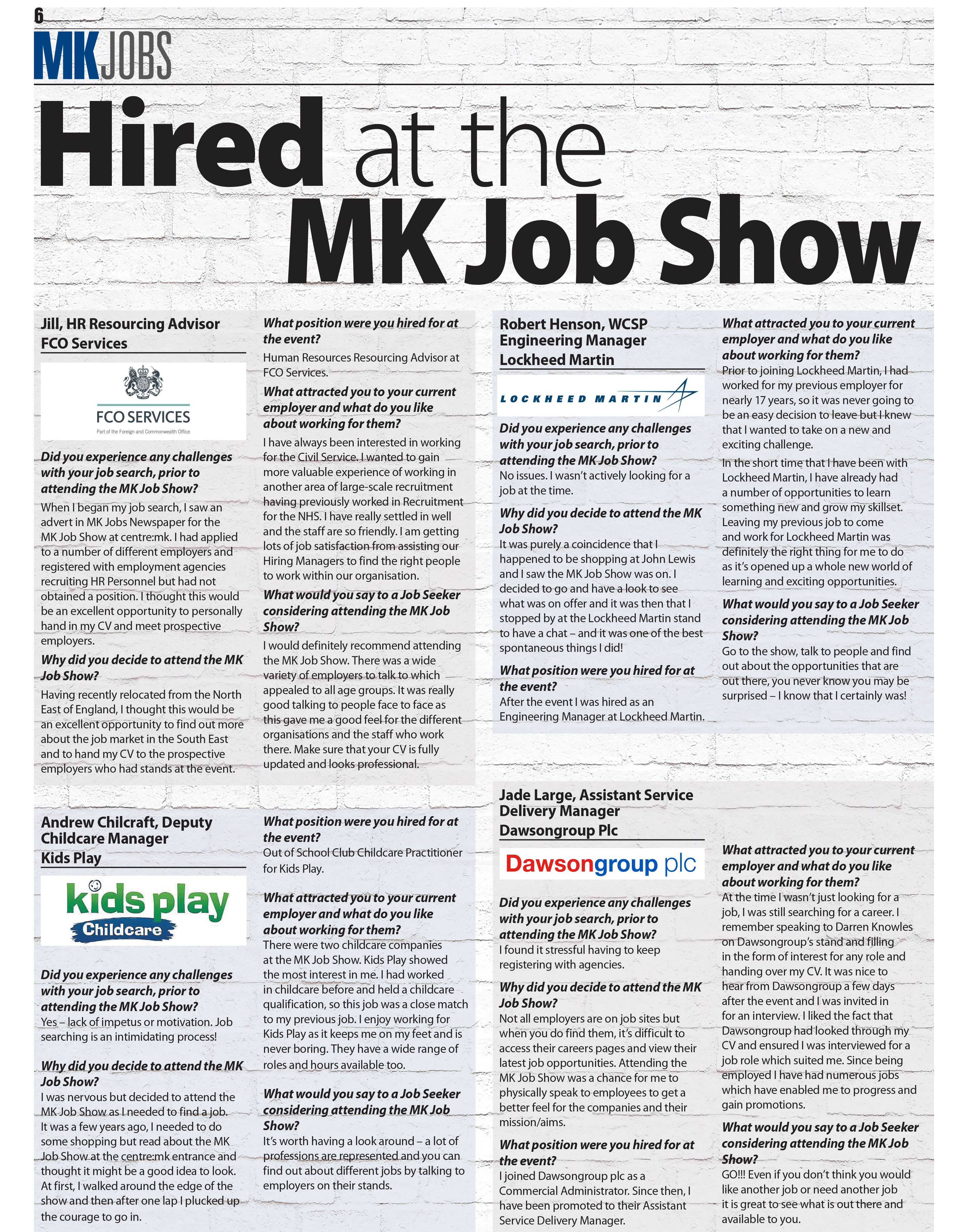 Hired at the MK Job Show - Success Stories