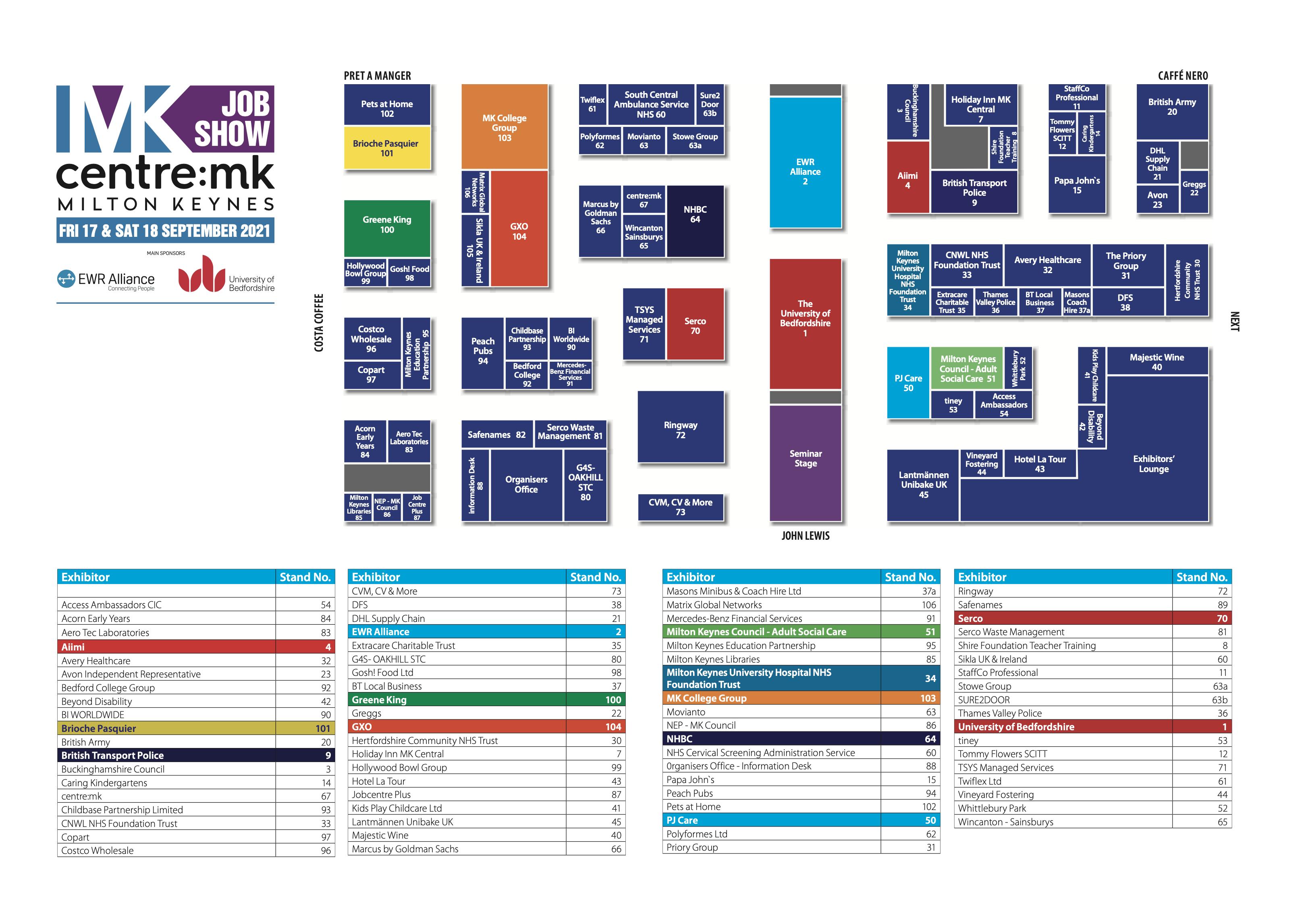 MK Job Show Floor Plan